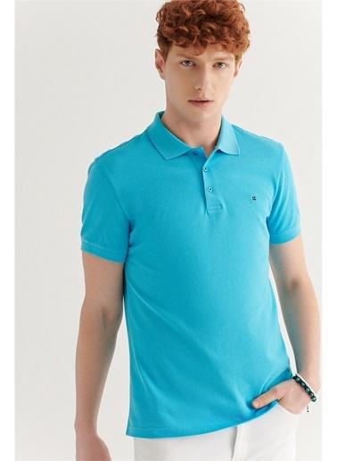 Avva Erkek  Polo Yaka Düz Tişört E001004.162 Mavi